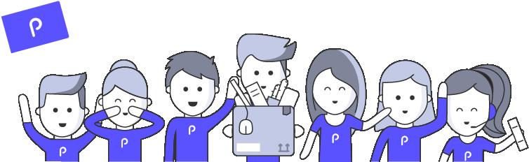 Illustration équipe papernest